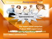 Management Assignment Help, Management Homework Help, ExpertsMind.com