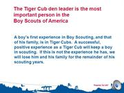 BSA Tiger Cub Recruitment - Lucia Cronin  with sound