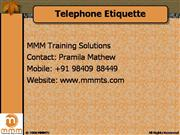 Telephone Etiquette Training from MMMTS