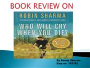 Anoop who will cry book review