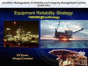 Equipment Reliability Strategy FMRIMS@STRATEGY