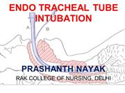 ET TUBE INTUBATION & NURSING CARE