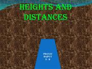 HEIGHT AND DISTANCES