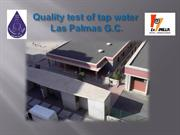 Quality test of tap water from Las Palmas
