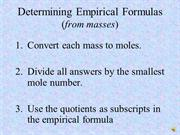 Empirical & Molecular Formula Calculations