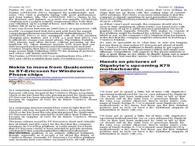 VR-Zone Tech News for the Geeks Nov 2011 Issue 2 |authorSTREAM