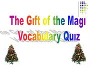 Karin's Gift of the magi Vocab quiz