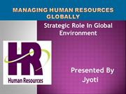 Managing Human Resouces Globally