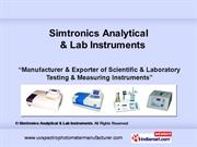 Simtronics Analytical And  Lab Instruments Haryana India
