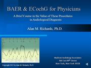 BAER & ECochG for Physicians