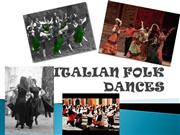 ITALIAN FOLK DANCES