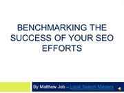 Benchmarking the success of your SEO efforts