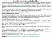 Transfer Movies from iPod to Mac