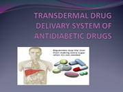 TRANSDERMAL DRUG DELIVARY SYSTEM OF ANTIDIABETIC DRUGS