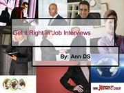 Get it Right in Job Interviews