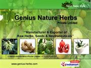 Genius Nature Herbs Private Limited Tamil Nadu India