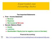 Accounting Basics Assignments, ExpertsMind.com