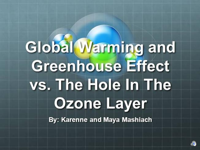 ozone and greenhouse effect