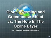 Global Warming and Greenhouse Gases vs The Hole In The Ozone Layer
