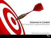 Webinar 5_Grammar In Context