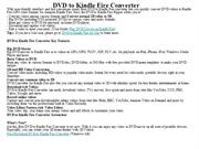 DVD to Kindle Fire Converter