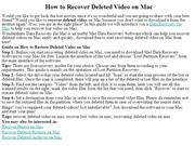 How to Recover Deleted Video on Mac