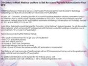 Corcentric to Host Webinar on How to Sell Accounts Payable Automation