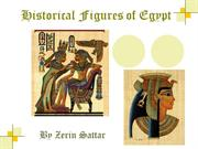 Historical Figures of Egypt