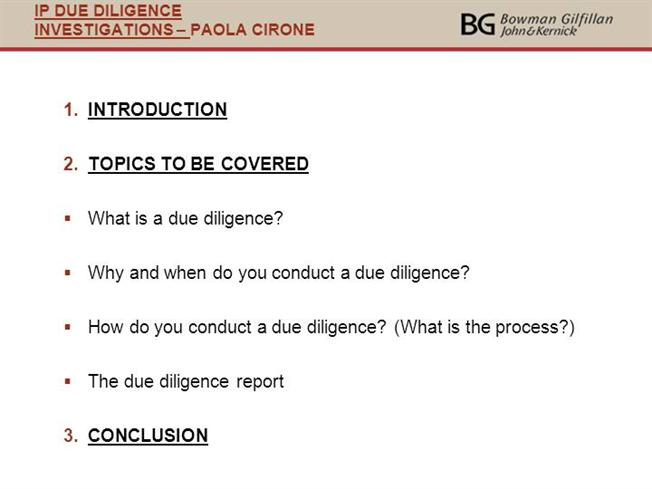 Due Diligence Ppt |Authorstream