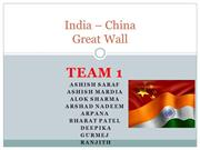India-China greatwall