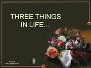 Three things to remember