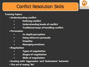Conflict Resolution Skills MMMTS
