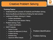 Creative Problem Solving MMMTS