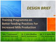 Training Programme on Better Feeding Practices For Increased Milk Prod