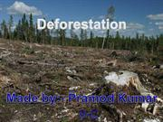 deforestation powerpoint by pramod kumar