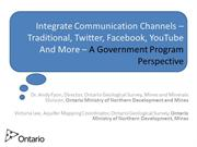 Strategic communication - Ontario Geological Survey