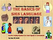 The basics of Sign Language