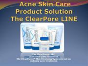 acne skin care product solution slide