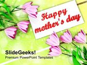 VACATION BOUQUET OF TULIPS ON MOTHERS DAY PPT TEMPLATE