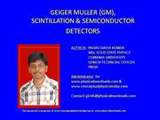 presentation on GM_semiconductor_scintillation detectors