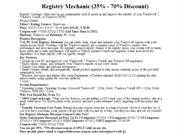 Registry Mechanic (35% - 70% Discount)