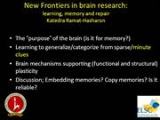 Katedra 3 Memory Learning 2012