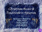 THIS IS AMERICA - Christmas Music and Traditions in USA