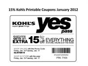 15% Kohls Printable Coupons January 2012