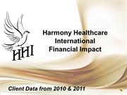 Harmony Healthcare International_Financial Impact