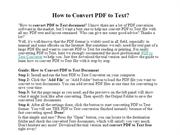How to Convert PDF to Text