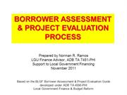 10 Borrower Assessment and Proj Evalution