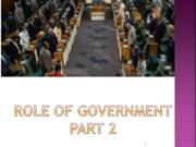 ROLE OF GOVERNMENT 2