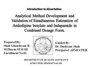 ANALYTICAL METHOD DEVELOPMENT AND VALIDATION OF SIMULTANEOUS ESTIMATIO
