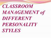 classroom management of different personality style